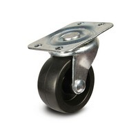 DH Casters C-GD20PS, Plate Mount Swivel & Rigid Caster, Medium Duty, 2in, 125lb Capacity, Plate Size 1-7/8 x 2-9/16in