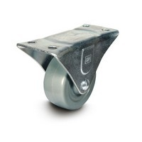 DH Casters C-GD25MRR, Plate Mount Swivel & Rigid Caster, Medium Duty, 2-1/2, 175lb Capacity, Plate Size 2-1/4 x 4-7/16in