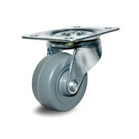 DH Casters C-GD25MRS, Plate Mount Swivel & Rigid Caster, Medium Duty, 2-1/2, 175lb Capacity, Plate Size 2-3/4 x 3-27/32in