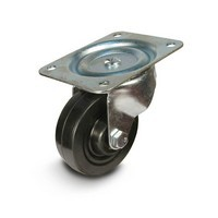 DH Casters C-GD40HRS, Plate Mount Swivel & Rigid Caster, Medium Duty, 4in, 300lb Capacity, Plate Size 4 x 5-1/18in