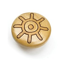 Laurey 30812 Round Design Knob, Dia 1-3/8, Maple, Tonga Series