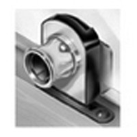 CompX Timberline CB-361 Timberline Lock, Glass Door Lock (1/4 - 5/16 Thick) Cylinder Body Only, Non-Bore Style, Vertical Mount, Bright Nickel