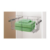 Rev-A-Shelf CB-241411CR-3, Pull-Out Wire Closet Basket, 24 W x 14 D x 11 H, Chrome