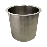 Hardware Concepts 6143-679, Round Stainless Steel 1-Piece, Trash Grommet with 6in Depth, Bore Hole: 6in dia., Polished Stainless Steel