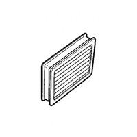 Hardware Concepts 6437-021, Rectangle Plastic 2-Piece, Ventilation Grommet, Bore Hole: 4-1/4 L x 3-1/4 W, Gray