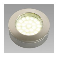 Hera 1.6W KB12-LED Series LED Puck Light, Warm White, Stainless Steel, KBS12LEDSS/WW
