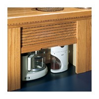 Omega National AG-100SSC-18, 18 W Appliance Garage Set - Straight Unit, Cherry Solid Wood Door
