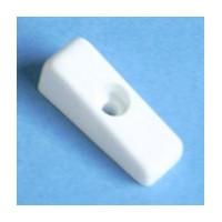 Bainbridge 4603WH-32, 1/2 High Plastic Drawer Bumper, No Reference Tab, White