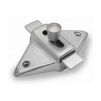 Jacknob 5023, Toilet Door Stainless Steel Latch for In-Swing & Out-Swing Doors, Stainless Steel