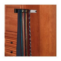 Rev-A-Shelf CWSTR-14B-1-10 Bulk-10, 14in Side Mount Wood Tie Rack, Black