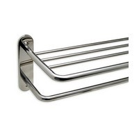 Harney Hardware 19033, Hotel Towel Rack, 24in, Stainless Steel Hotel Towel Rack, Polished Stainless Steel