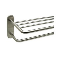 Harney Hardware 19045, Hotel Towel Rack, 24in, Stainless Steel Hotel Towel Rack, Brushed Stainless Steel