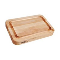 John Boos RAD01-GRV-S 18 L Cutting Board, Professional Collection, RAD Board w/ Pour Spout, Maple, 18 L x 12 W x 2-1/4 Thick