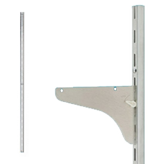 WE Preferred B01-59361-174 36in HD Single Slotted Shelf Standard, Bright Zinc