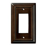 Liberty Hardware 126341, Single Decorator Wall Plate, Espresso, Wood Architectural