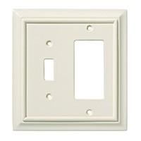 Liberty Hardware 126378, Single Switch/Decorator Wall Plate, Light Almond, Wood Architectural