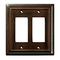 Liberty Hardware 126379, Double Decorator Wall Plate, Espresso, Wood Architectural