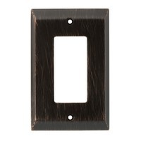 Liberty Hardware 126407, Single Decorator Wall Plate, Venetian Bronze, Stately