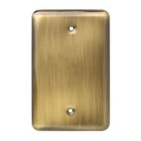 Liberty Hardware 126440, Single Blank Wall Plate, Antique Brass, Stamped Round