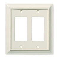 Liberty Hardware 126449, Double Decorator Wall Plate, Light Almond, Wood Architectural