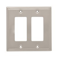 Liberty Hardware 126479, Double Decorator Wall Plate, Satin Nickel, Country Fair