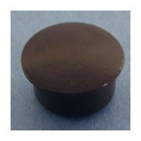 Bainbridge 3015BR-32, 10mm Bore, Plastic Cover Cap for Shelf Hole, Brown, 100-Pack