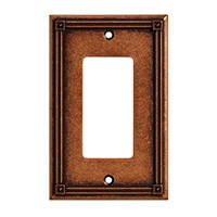 Liberty Hardware 135767, Single Decorator Wall Plate, Sponged Copper, Ruston