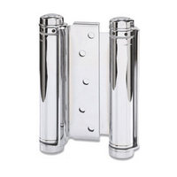 Bommer 3029-3-603, 3in Gate/Spring Hinges, Double Acting for 3/4 - 1in Thick Doors, Dull Zinc