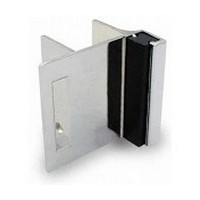 Jacknob 5110, Toilet Door Zamak Strikes/Keepers for In-Swing Doors, Chrome