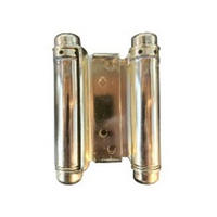 Bommer 3029-3-632, 3in Gate/Spring Hinges, Double Acting for 3/4 - 1in Thick Doors, Bright Brass