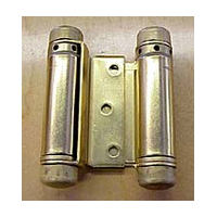 Bommer 3029-3-633, 3in Gate/Spring Hinges, Double Acting for 3/4 - 1in Thick Doors, Dull Brass