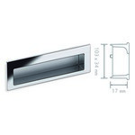 Schwinn 53358, Recessed Pull, Rectangular Design, Rounded In All The Right Places. Polished Chrome, Zamak Recessed Pull