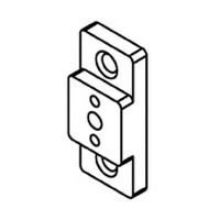 Bainbridge 3605AL-22, 3/8 Drawer Slide Spacer, Almond