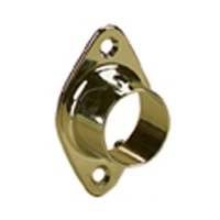Knape and Vogt KV 734 BR, Closed 1-1/16 Round Flange, Brass-Look
