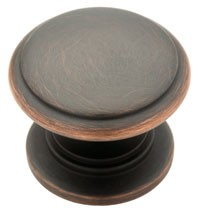 Liberty Hardware 61603VB, Knob, 1-1/4 dia., Bronze W/Copper Highlights, Bronze w/ Copper Highlights