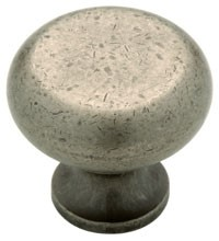 Liberty Hardware 61786PI, Knob, 1-1/4 dia., Tumbled Pewter