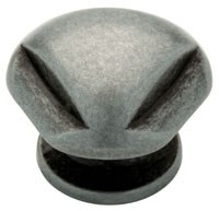 Liberty Hardware 62933AP, Knob, 1-5/16 dia., Pewter Antique