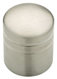 Liberty Hardware 63225NA, Knob, 1in dia., Stainless Steel, Palladium