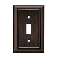Liberty Hardware 64241, Single Switch Wall Plate, Antique Bronze, Architectural