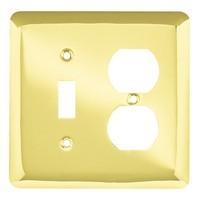 Liberty Hardware 64353, Single Switch/Duplex Wall Plate, Polished Brass, Stamped Round
