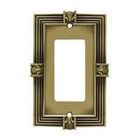 Liberty Hardware 64473, Single Decorator Wall Plate, Tumbled Antique Brass, Pineapple