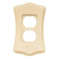 Liberty Hardware 64637, Single Duplex Wall Plate, Unfinished Wood, Wood Scalloped