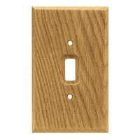 Liberty Hardware 64672, Single Switch Wall Plate, Medium Oak, Wood Square