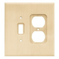 Liberty Hardware 64675, Single Switch/Duplex Wall Plate, Unfinished Wood, Wood Square