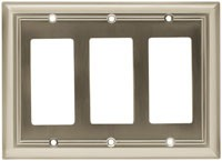 Liberty Hardware 65165, Wall Plate, Length 4-7/8, Satin Nickel, Architectural