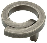 Liberty Hardware 65176PI, Knob Swirl, 2in dia., Tumbled Pewter, Iron Craft