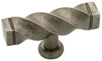 Liberty Hardware 65213PI, Knob, 2-1/2 dia., Tumbled Pewter, Iron Craft