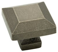 Liberty Hardware 65237PI, Knob, 1-1/4 dia., Tumbled Pewter, Iron Craft