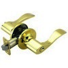Design House 700468 Springdale 2-Way Latch Entry Door Handle, Adjustable Backset, Polished Brass