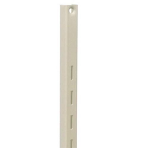 KV 80 ALM 48, 48in 80 Series Single Slotted Shelf Standard, Almond, Knape and Vogt